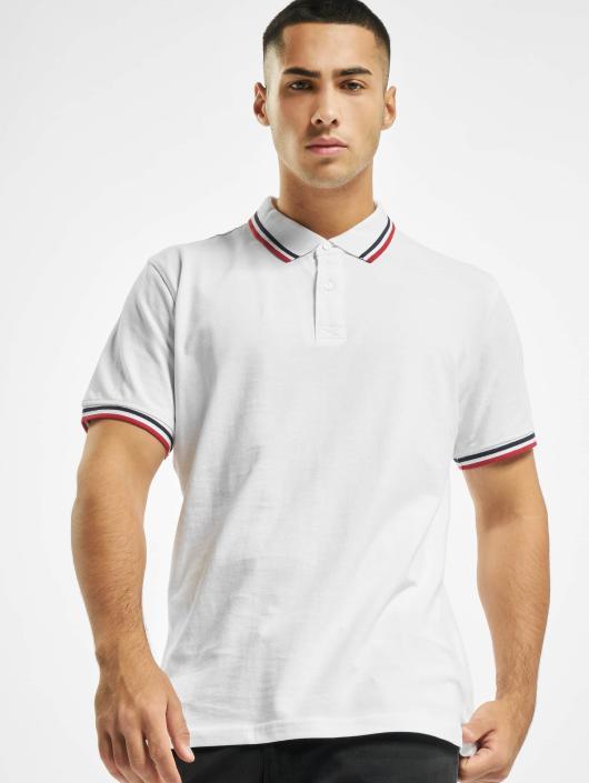 Urban Classics Poloskjorter Double Stripe hvit
