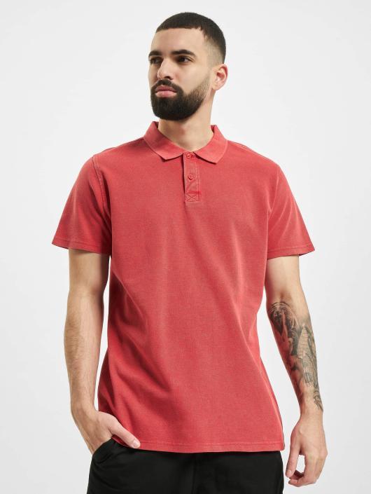 Urban Classics Poloskjorter Garment Dye Pique red
