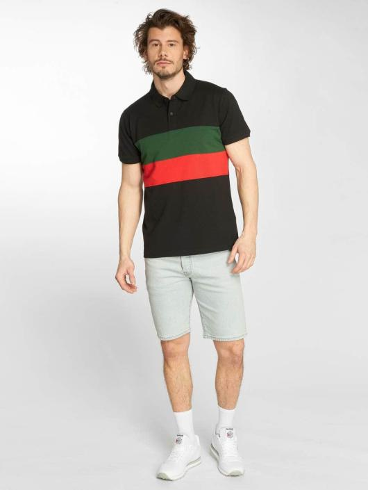 Urban Classics Poloskjorter Color Block Panel svart