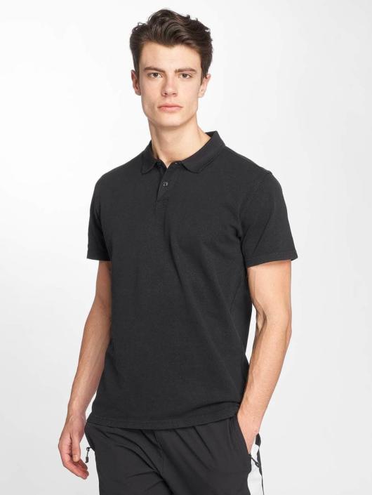 Urban Classics Poloskjorter Garment Dye Pique svart