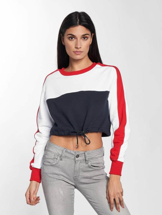 Urban Classics Pullover 3-Tone Stripe Cropped blau