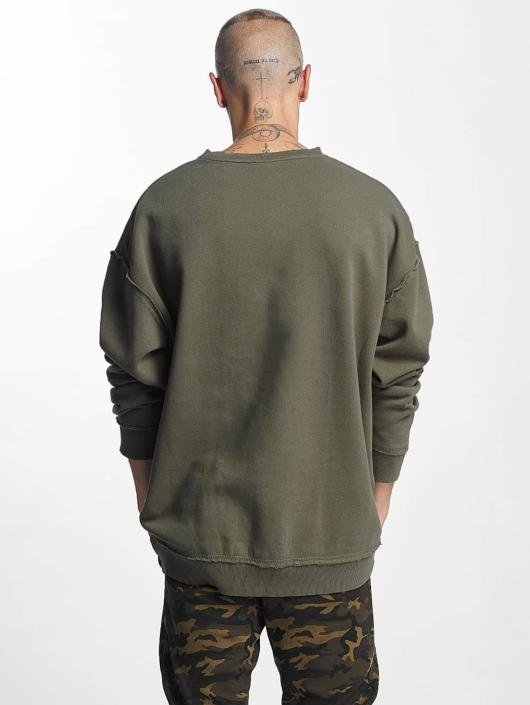 Urban Classics Pullover Oversized Open Edge green