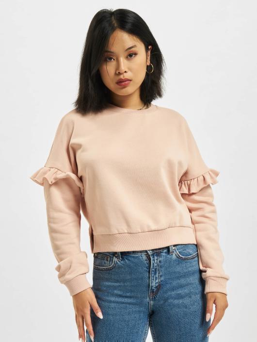 Urban Classics Pullover Oversize Volant rose
