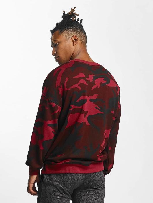 Urban Classics Pullover Camo rot