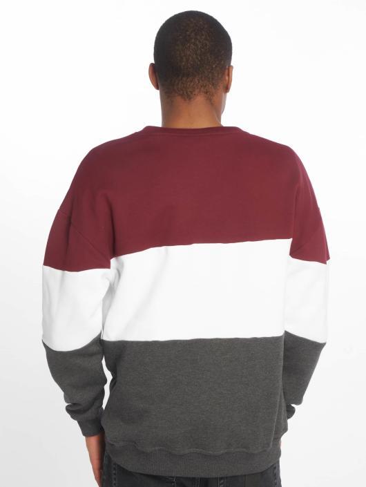 Urban Classics Pullover 3 Tone Oversize rot