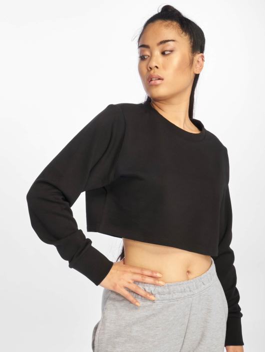 Urban Classics Pullover Terry Cropped schwarz