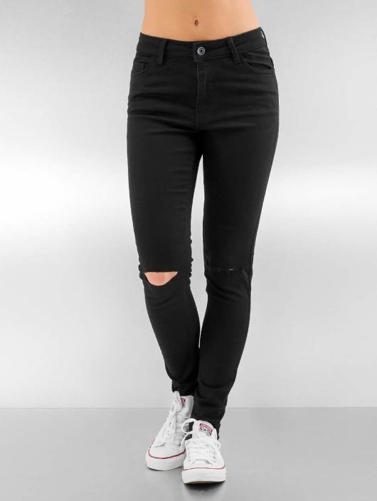 Urban Classics Rovné Ladies Cut Knee èierna