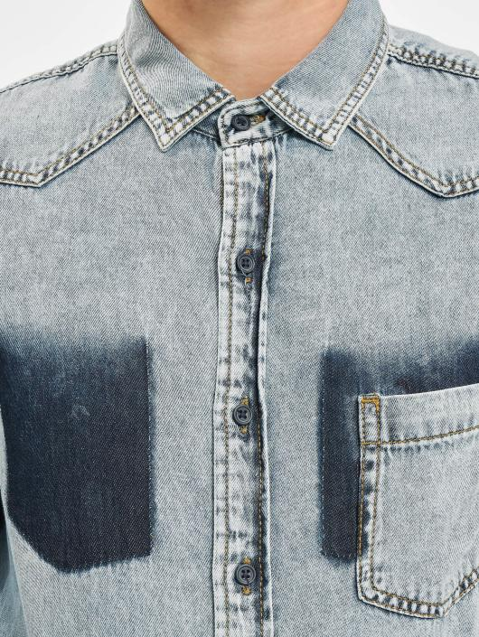 Urban Classics Shirt Denim Pocket blue