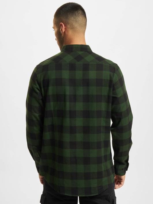 Urban Classics Shirt Checked Flanell green