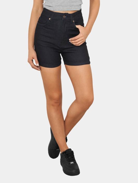 Urban Classics Shorts High Waist Denim Skinny blau