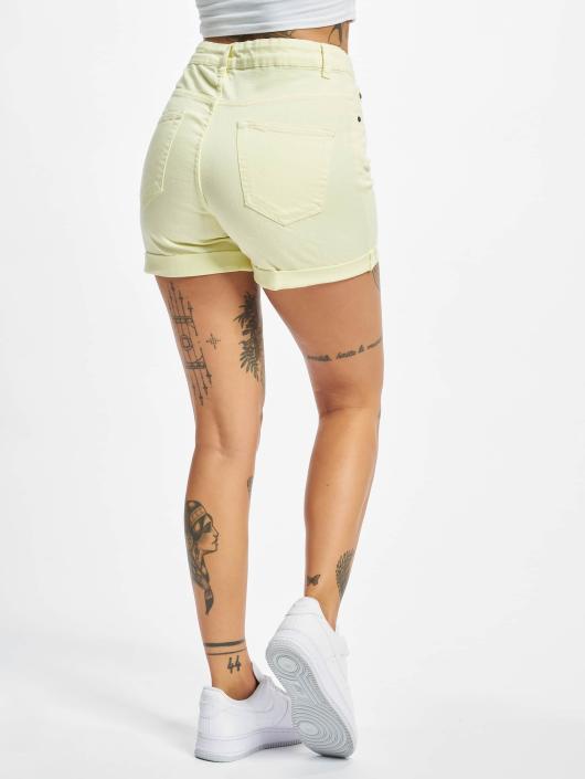 Urban Classics Shorts Twill Highwaist Stretch gelb