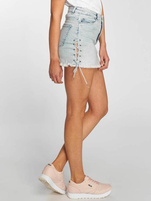 Urban Classics Skjørt Lace Up Denim blå