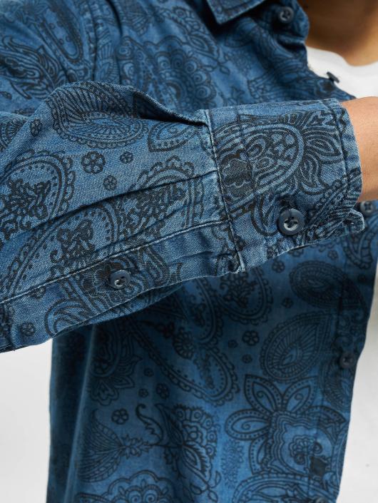 Urban Classics Skjorter Printed Paisley Denim blå