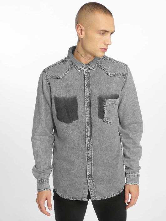 Urban Classics Skjorter Denim Pocket grå