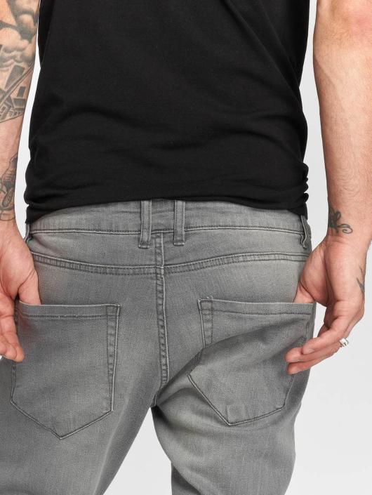 Urban Classics Slim Fit Jeans Knee Cut grey