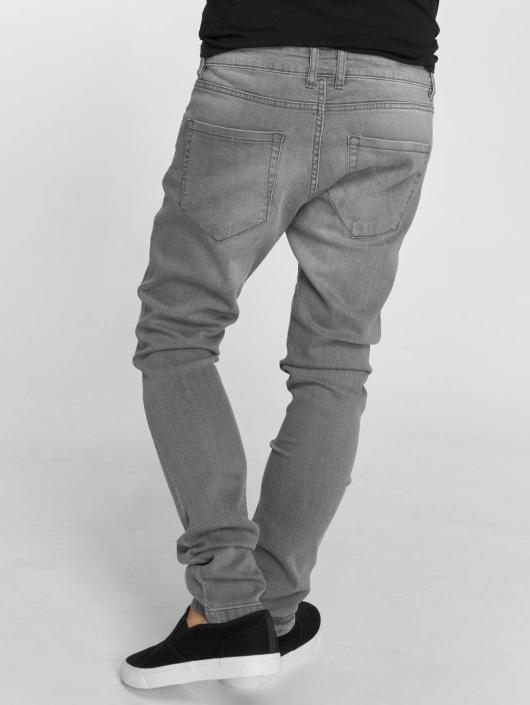 Urban Classics Slim Fit Jeans Knee Cut grey