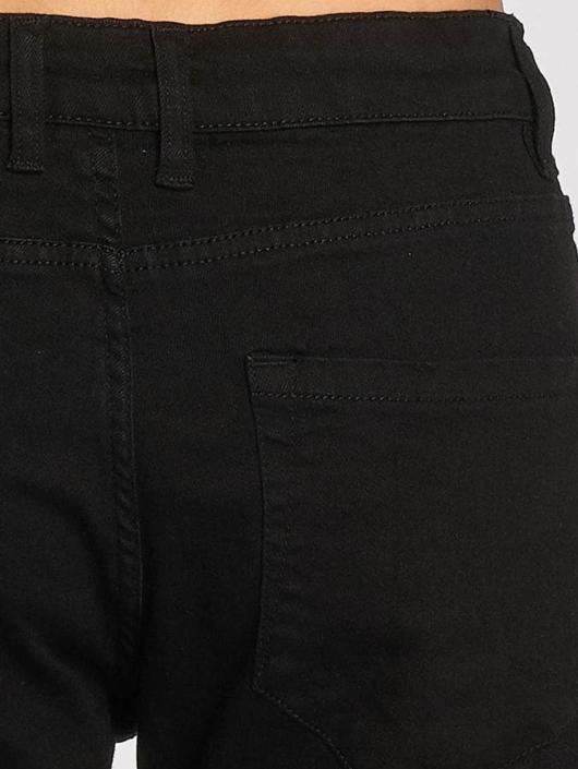 Urban Classics Slim Fit Jeans Knee Cut schwarz