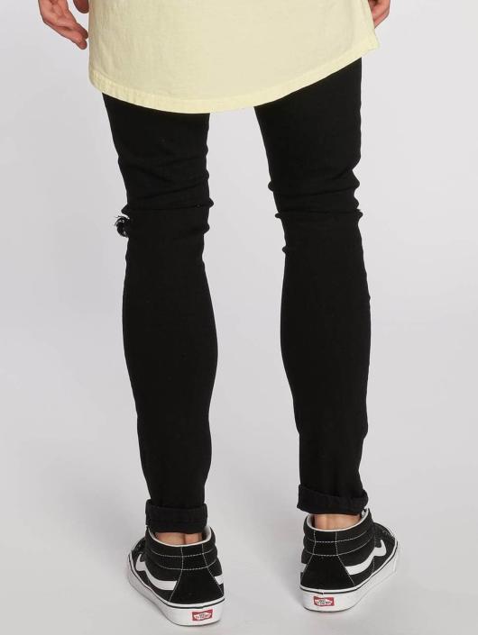Urban Classics Slim Fit Jeans Knee Cut zwart