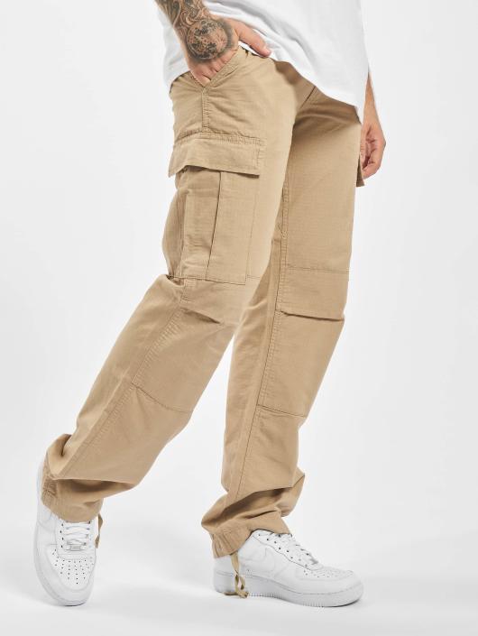 Urban Classics Spodnie Chino/Cargo Camouflage bezowy