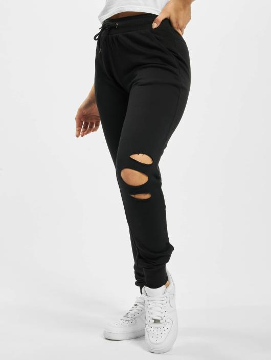 Urban Classics Spodnie do joggingu Cutted Terry czarny