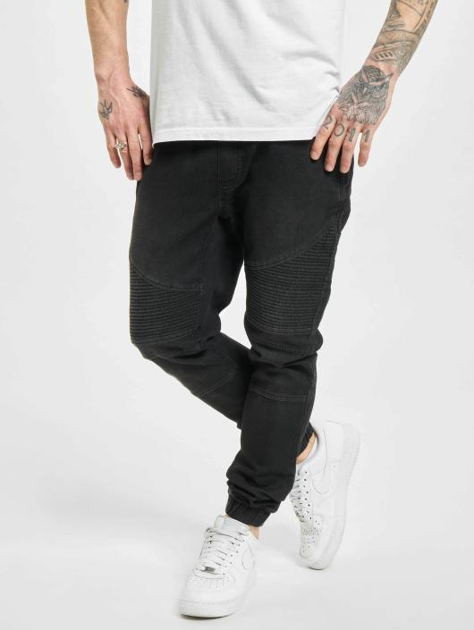 Urban Classics Spodnie do joggingu Biker Denim Jogger czarny