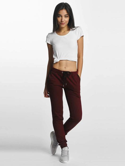 Urban Classics Spodnie do joggingu Athletic Melange czerwony