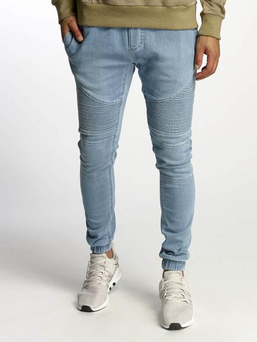 Urban Classics Spodnie do joggingu Biker Denim Jogger niebieski