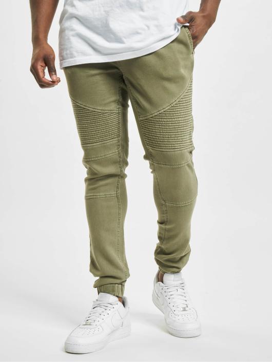 Urban Classics Spodnie do joggingu Biker oliwkowy