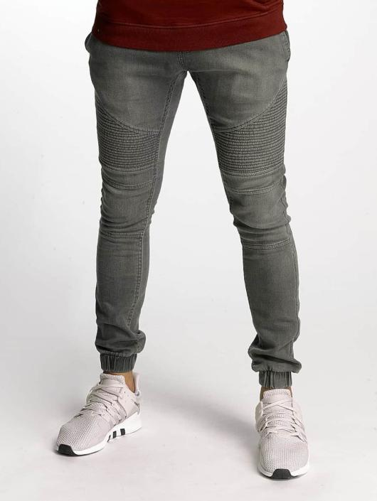 Urban Classics Spodnie do joggingu Biker Denim Jogger szary