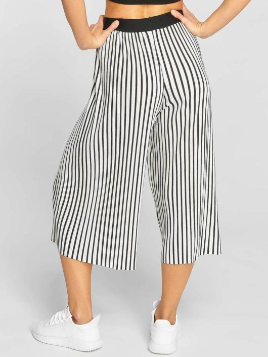 Urban Classics Stoffbukser Stripe Pleated Culotte hvit