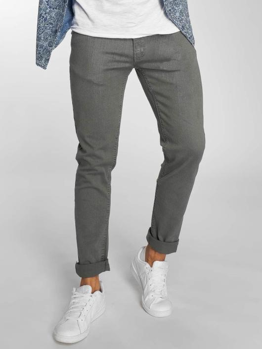 Urban Classics Straight Fit Jeans Basic Twill 5 Stretch grå
