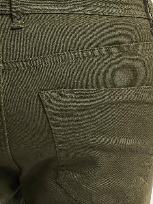Urban Classics Straight Fit Jeans Basic Twill 5 Stretch Pocket olive