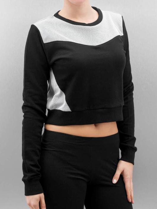 Classics Cropped Ladies Terry Pull Noir Sweatamp; Femme Mesh 263118 Urban Nvm80yOnw
