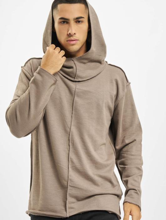 Urban Classics Long Slub Terry Open Edge Hoody Taupe