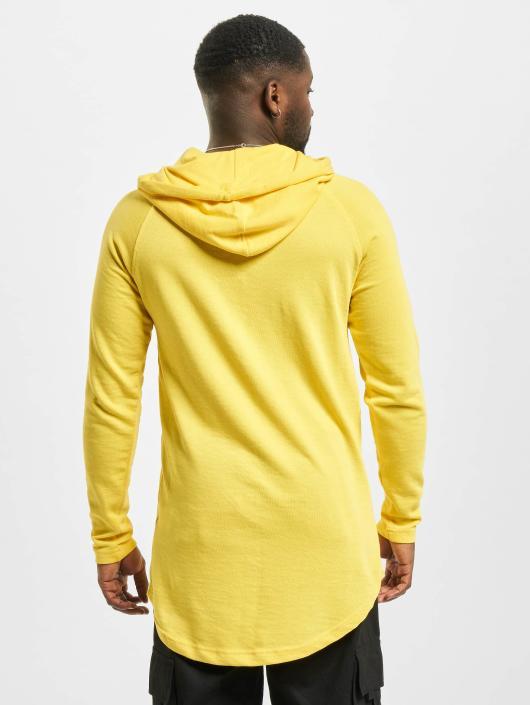 Urban Classics Sweat capuche Long Shaped Terry jaune