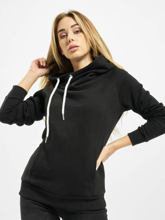 2180f52117 Urban Classics | Raglan High Neck noir Femme Sweat capuche 201347