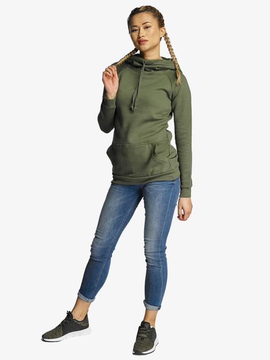 Urban 305138 Ladies High Capuche Classics Olive Sweat Femme Neck b6yfg7