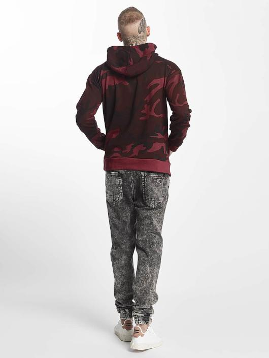 Urban Classics Sweat capuche High Neck Camo rouge