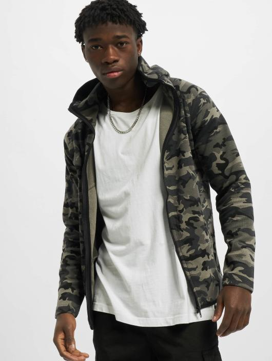 Urban Classics Sweat capuche zippé Interlock Camo camouflage