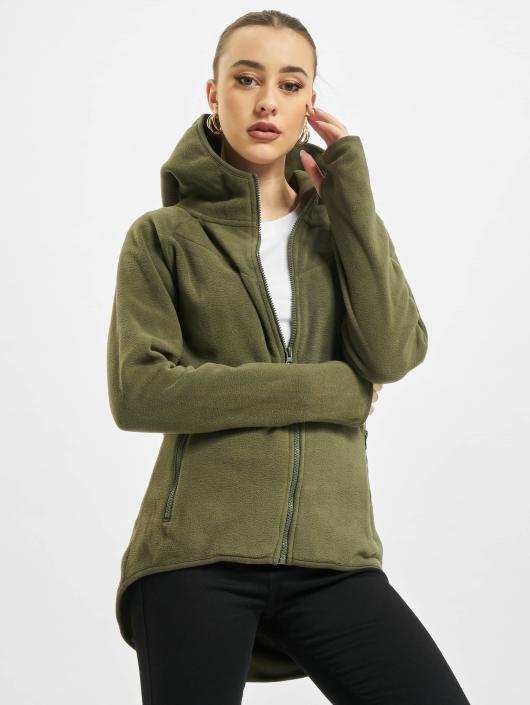 Urban Classics   Polar Fleece olive Femme Sweat capuche zippé 399691 63b77b1ad6e4