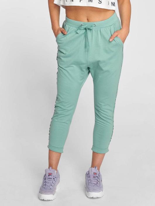 Urban Classics Sweat Pant Open Edge Terry Turn Up turquoise