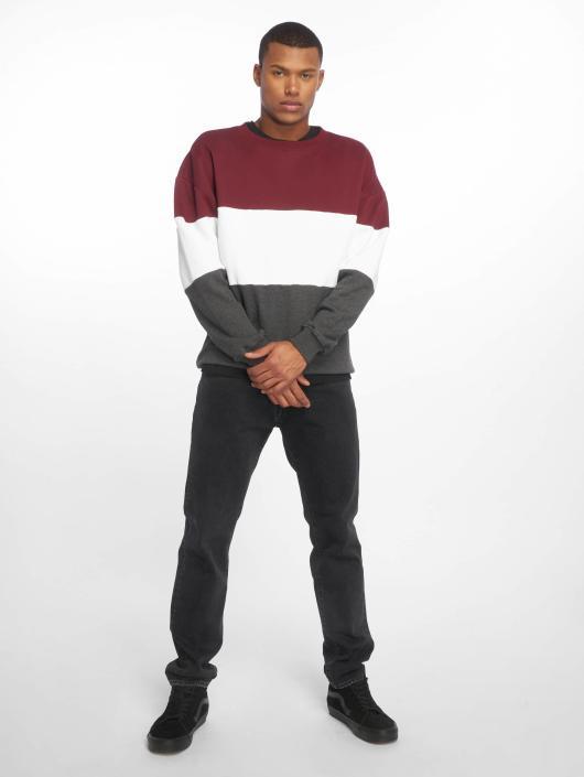 Urban Classics Swetry 3 Tone Oversize czerwony