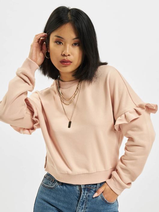 Urban Classics Swetry Oversize Volant rózowy