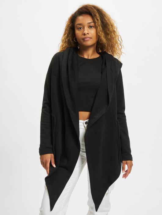 Urban Classics Swetry rozpinane Ladies Hooded czarny