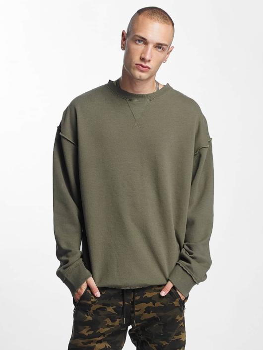 Urban Classics Swetry Oversized Open Edge zielony