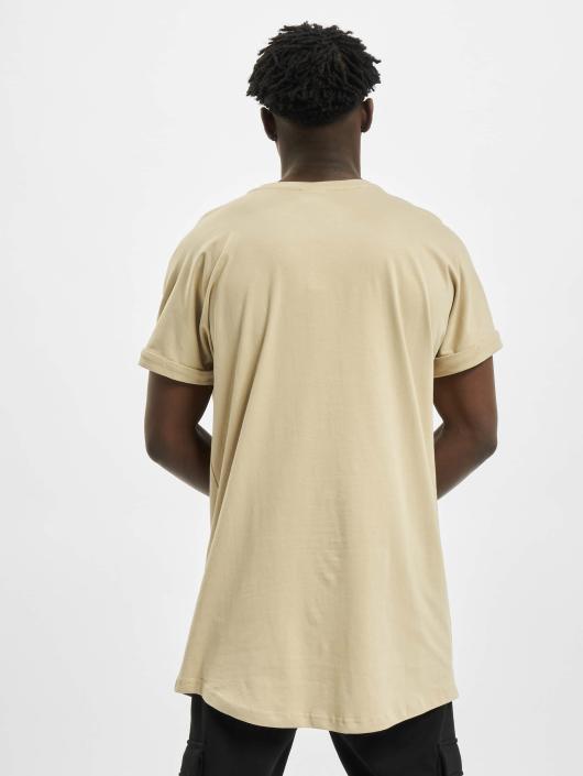 Urban Classics T-Shirt Long Shaped Turnup beige