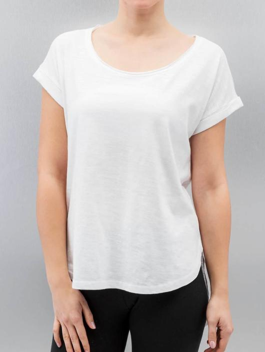 Urban Classics T-shirt Long Back Shaped Slub bianco