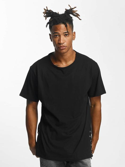 Urban Classics T-Shirt Lace Up Long black