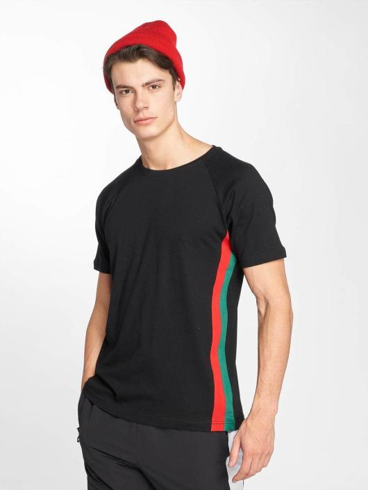 Urban Classics T-Shirt Side Stripe Raglan black