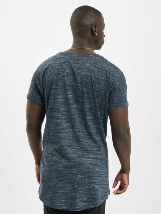 Urban Classics T-Shirt Long Space Dye Turn Up blau